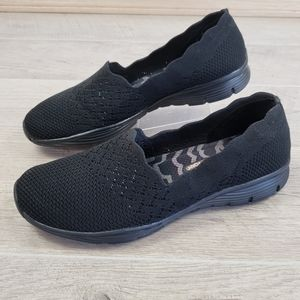Skechers Seager Stat Modern Black Comfort Shoes